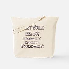 WWCHEDOBLKRED10X10.gif Tote Bag