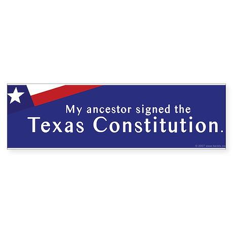 Texas Constitution Bumper Sticker
