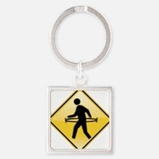 Hula-Walker Square Keychain