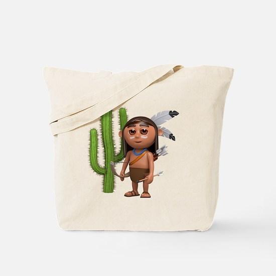 3d-indian-cactus Tote Bag