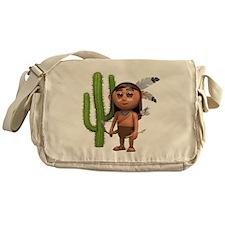 3d-indian-cactus Messenger Bag