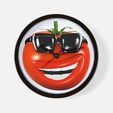 3d-tomato-shades Wall Clock