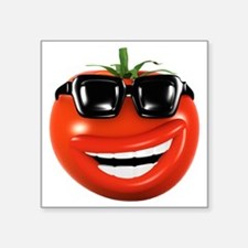 "3d-tomato-shades Square Sticker 3"" x 3"""