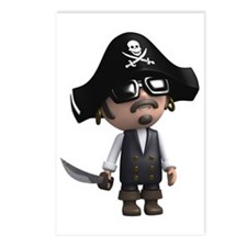 3d-Pirate-sunglasses Postcards (Package of 8)