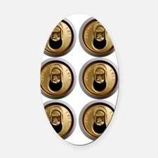 six pack abs Oval Car Magnet