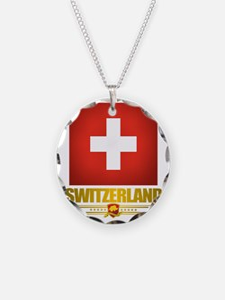 Switzerland (Flag 10) 2 Necklace