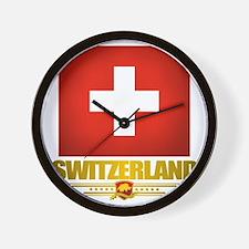Switzerland (Flag 10) 2 Wall Clock