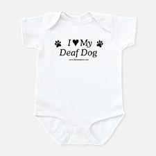 Love My Deaf Dog Infant Bodysuit