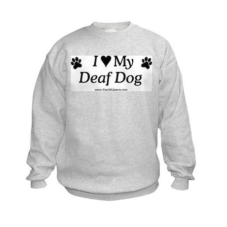 Love My Deaf Dog Kids Sweatshirt