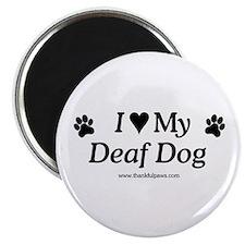Love My Deaf Dog Magnet