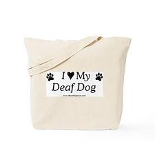 Love My Deaf Dog Tote Bag
