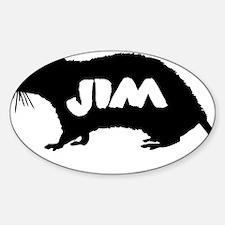 JimRatSOLO Sticker (Oval)