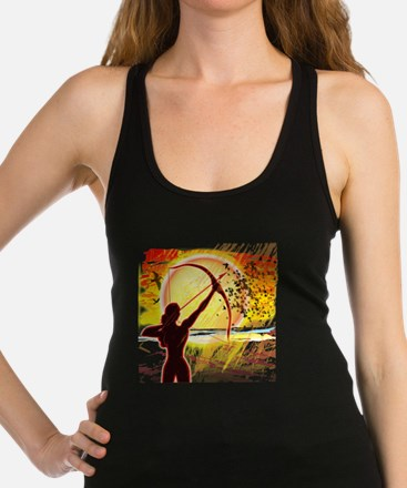 Katniss Radiant as The Sun Racerback Tank Top
