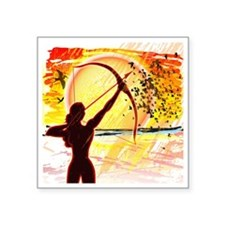 "Katniss Radiant as The Sun Square Sticker 3"" x 3"""