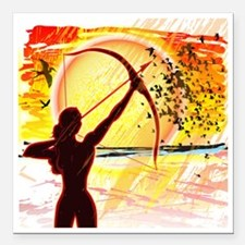 """Katniss Radiant as The S Square Car Magnet 3"""" x 3"""""""