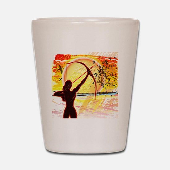 Katniss Radiant as The Sun Shot Glass