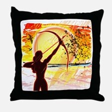 Katniss Radiant as The Sun Throw Pillow