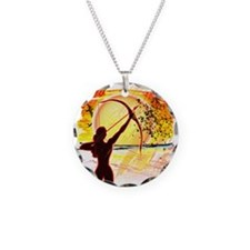 Katniss Radiant as The Sun Necklace Circle Charm