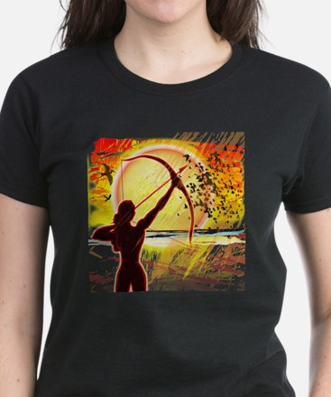 Katniss Radiant as The Sun Women's Dark T-Shirt