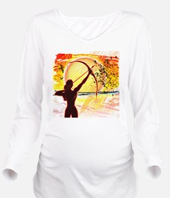 Katniss Radiant as T Long Sleeve Maternity T-Shirt