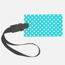 teal-polkadot-laptop-skin Luggage Tag
