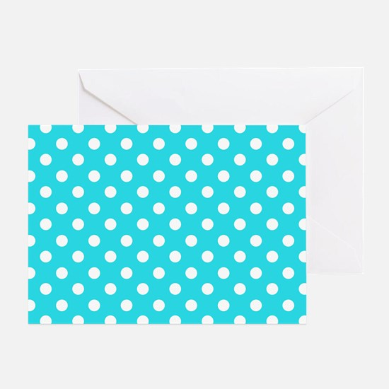 teal-polkadot-laptop-skin Greeting Card