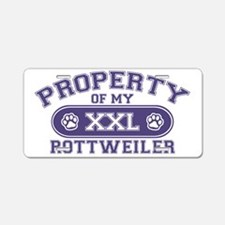 rottweilerproperty Aluminum License Plate