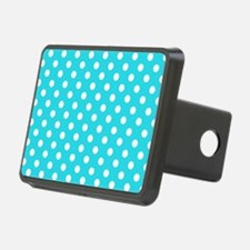 teal-polkadot-laptop-skin Hitch Cover