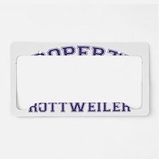 rottweilerproperty License Plate Holder