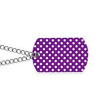 purple-polkadot-laptop-skin Dog Tags