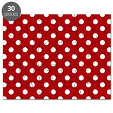 red-polkadot-laptop-skin Puzzle