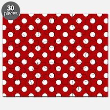 red-polkadot-laptop-skin Puzzle