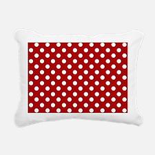 red-polkadot-laptop-skin Rectangular Canvas Pillow