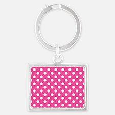 pink-polkadot-laptop-skin Landscape Keychain
