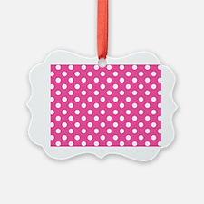 pink-polkadot-laptop-skin Ornament