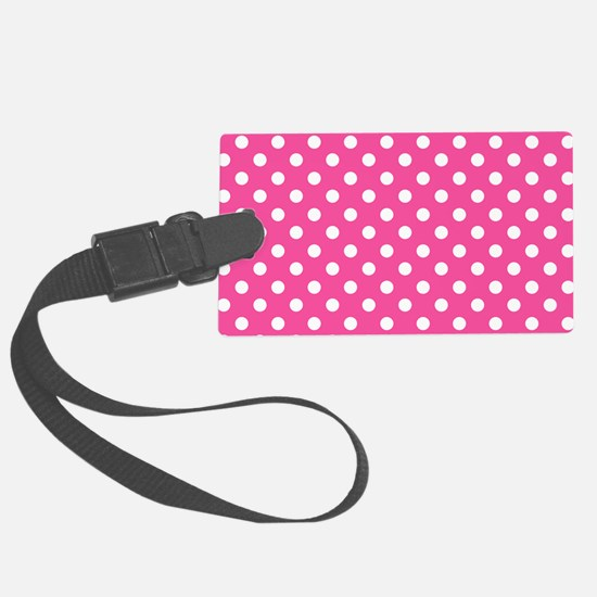 pink-polkadot-laptop-skin Luggage Tag