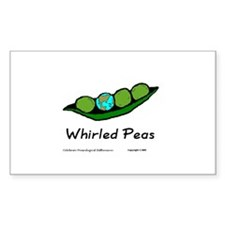 whirledpeas.us Rectangle Decal