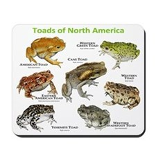 Toads of North America Mousepad