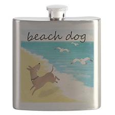beach-dog-1729 Flask