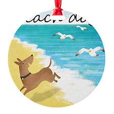 beach-dog-1729 Ornament
