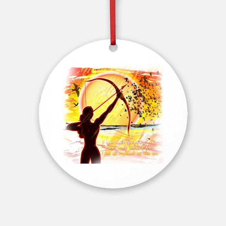 Katniss Quote. I am not pretty....T Round Ornament
