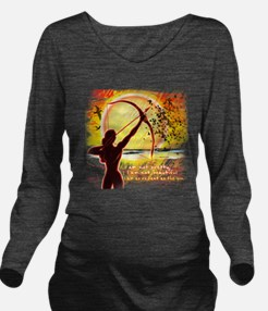Katniss Quote. I am  Long Sleeve Maternity T-Shirt