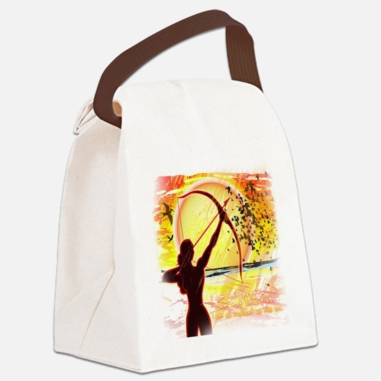 Katniss Quote. I am not pretty... Canvas Lunch Bag