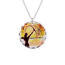 Katniss Quote. I am not pret Necklace Circle Charm