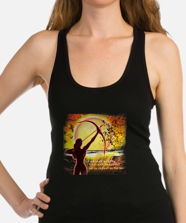 Katniss Quote. I am not pretty. Racerback Tank Top