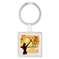 Katniss Quote. I am not pretty.... Square Keychain