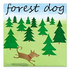 "forest-dog-1729 Square Car Magnet 3"" x 3"""