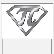 Super Pi 3D Gray2 Yard Sign