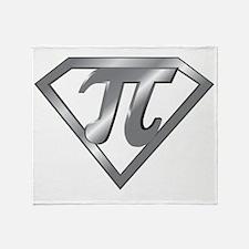 Super Pi 3D Gray2 Throw Blanket