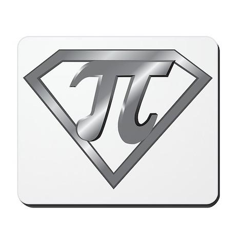 Super Pi 3D Gray2 Mousepad